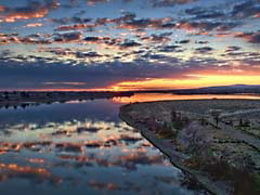 HCmorningGlow.jpg Sky Landscapes - Water sunrise sunset dawn dusk clouds river creek stream water reflections mirrors