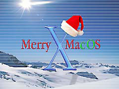 HLxmas.jpg Logos, Mac OS X Holidays snow white mountains