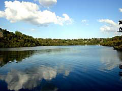 MCsaltPanCreek.jpg Landscapes - Water clouds reflections mirrors lakes ponds water loch blue photography