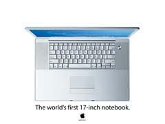 MDfirst17inch.jpg print advertisement Apple - PowerBook G4 albook aluminum powerbook g4