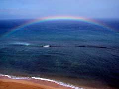 PRBmauiRainbow.jpg Landscapes - Water beach sand coast blue hawai'i hawaiian islands pacific ocean photography