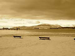 SMwinterBeach.jpg sepia tones sepiatones Landscapes - Water lakes ponds water loch vancouver british columbia canada photography snow white