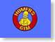 BChomersGym.jpg Humor blue homer simpson doh! red yellow illustration